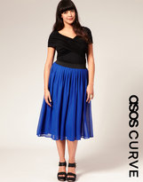Asos Chiffon Midi Skirt