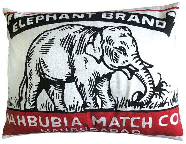 Koko Match Co Elephant Brand Pillow