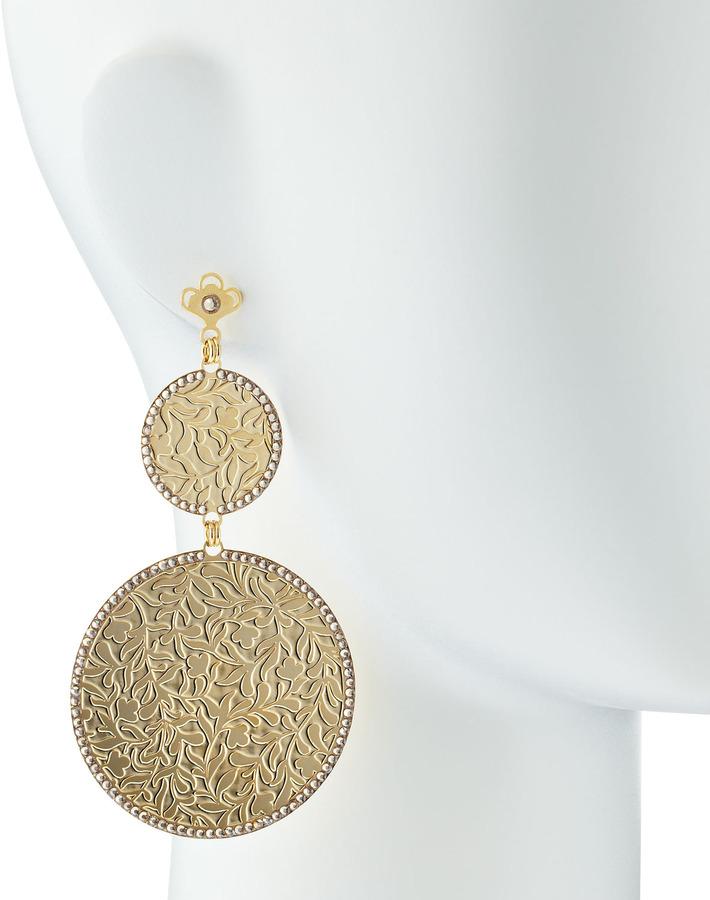 LK Designs Golden Double-Circle Earrings