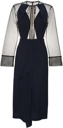 Roland Mouret Devens sheer dress