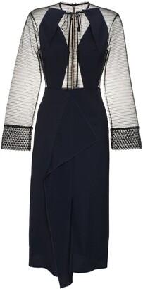 Roland Mouret Devens sheer dress