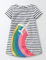 Boden Stripy Appliqué Jersey Dress