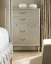 Caracole Pearly White Tall Chest of Drawers