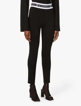 Givenchy Branded skinny high-waist stretch-jersey leggings