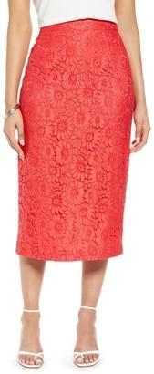 Halogen Lace Pencil Skirt