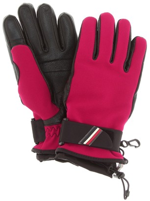 MONCLER GRENOBLE Leather-trimmed gloves