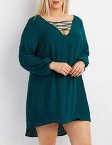 Charlotte Russe Plus Size Lattice Shift Dress