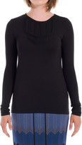 Max Studio Textural Long Sleeved Top