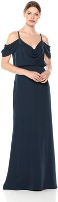 Tadashi Shoji Women's Cold Shoulder Crepe Gown