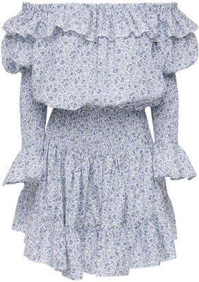 Cc By Camilla Cappelli Celeste Off-The-Shoulder Mini Dress