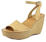 Kenneth Cole Reaction Kind-ly Women Open Toe Synthetic Tan Wedge Sandal.