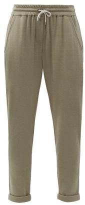 Brunello Cucinelli Ball-chain Trim Cotton-blend Track Pants - Khaki