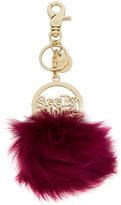 See by Chloe fur pom pom key ring