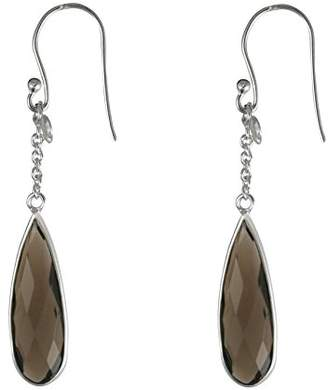 Canyon E3837 Drop Earrings - Sterling Silver Quartz