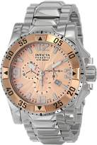 Invicta Men's Excursion 10890 Silver Stainless-Steel Swiss Chronograph Watch with Dial