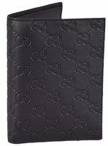 Gucci Men's Leather GG Guccissima Passport Holder Bifold Wallet