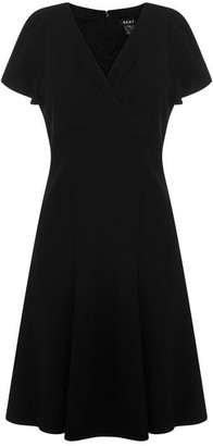 DKNY Occasion Occasion V Neck Dress
