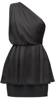 Alexandre Vauthier Draped One-shoulder Chiffon Mini Dress - Black