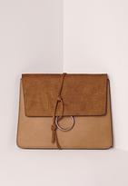 Missguided Thread Through Clutch Bag Tan