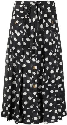 Boutique Moschino Polka-Dot Midi Skirt