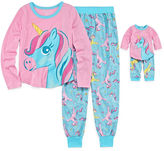 Asstd National Brand Komar Kids Unicorn Pajamas with Matching Doll Outfit - Girls 7-16