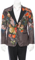 Dolce & Gabbana Floral Print Silk-Blend Blazer