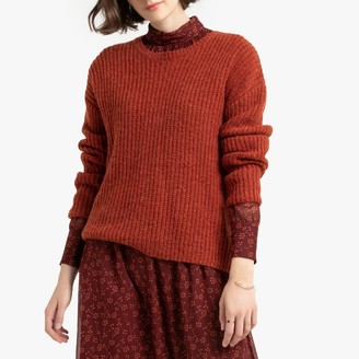 La Redoute Collections Chunky Knit Ribbed Jumper with Crew Neck