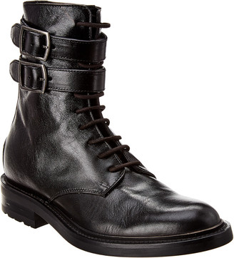 Saint Laurent Studded Leather Army Boot