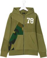 Diesel front zipped hoodie