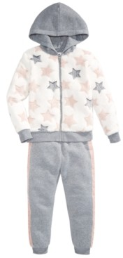 Epic Threads Little Girls Faux-Fur Star Hoodie Set, Created for Macy's