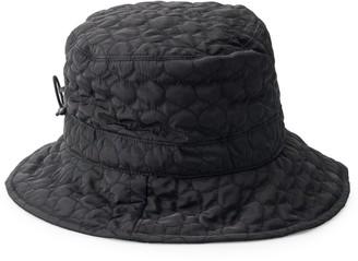 Scala Women's Quilted Big Brim Rain Hat