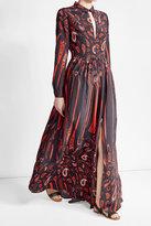 Lala Berlin Printed Silk Maxi Dress