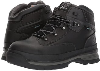 Timberland Euro Hiker Alloy Safety Toe Waterproof (Black Full Grain Leather) Men's Hiking Boots