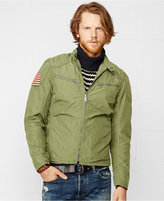 Denim & Supply Ralph Lauren Men's Wax Nylon Moto Jacket