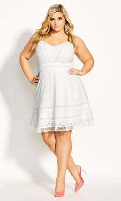 City Chic Fabricia Dress - ivory
