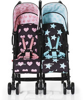Cosatto Pink & Teal Stars & Hearts Double Stroller