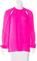 Tamara Mellon Silk Button-Up Top