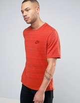 Nike Advance Knit T-shirt In Orange 837010-852
