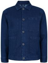 Topman Waven Dark Blue Waffle Textured Overshirt*