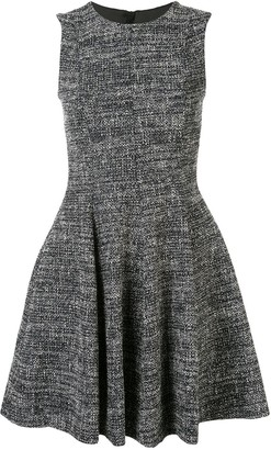 Paule Ka Sleeveless Flared Tweed Dress
