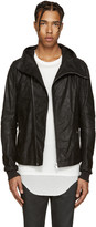 Rick Owens Black Leather Bullet Jacket