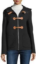 Michael Kors Zip-Front Hooded Jacket, Black