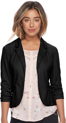 Candies Juniors' Candie's Ruched Sleeve Knit Blazer