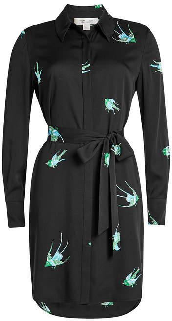 Diane von Furstenberg Printed Wrap Dress with Silk