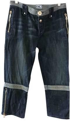 Byblos Blue Cotton Jeans for Women
