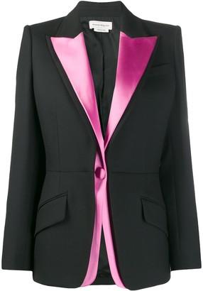Alexander McQueen double lapel light wool silk blazer