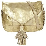 Pieces SILANA LEATHER CROSS BODY GOLD