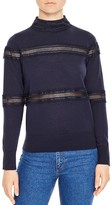 Sandro Nicole Open-Stitch Sweater