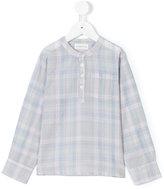 Simple checked mao shirt - kids - Cotton - 3 yrs