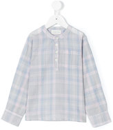 Simple checked mao shirt - kids - Cotton - 4 yrs